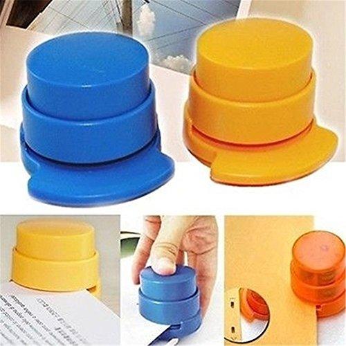 Ufficio Casa Portatile Staple Senza Cucitrice Senza Cucitrice Carta Binding Binder Paperclip 1 PZ Colore Casuale