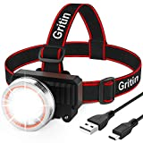 Lampe Frontale, Gritin Torche Frontale LED Rechargeable...