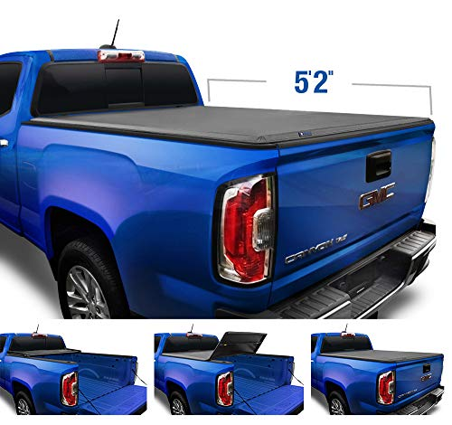 Tyger Auto T3 Soft Tri-Fold Truck Bed Tonneau Cover Compatible with 2015-2021 Chevy Colorado / GMC Canyon | Fleetside 5'2