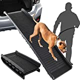 SkyTree Dog Ramp Flod, Pet Ramp for SUV, Car, Pickup Truck, FoldingDogRamp for Small to Large Dogs
