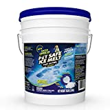 Green Gobbler Pet Safe Ice Melt Fast Acting Treatment | Magnesium Chloride Ice Melt Pellets | Pet & Plant Safe Ice Melter (15lb Pail)
