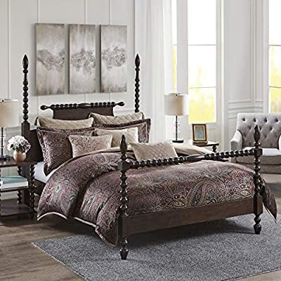 The Madison Park Signature Zingaro 9 Piece Comforter Set offers a rich and vibrant update to your bedroom décor. A multi-hued paisley design is beautifully displayed all-over the luxurious jacquard comforter and matching shams for a glamorous traditi...