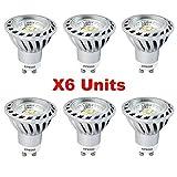 Xpeoo Lot de 6 LED 6W Dimmable GU10 Blanc froid Neutre Naturel Equivalente...
