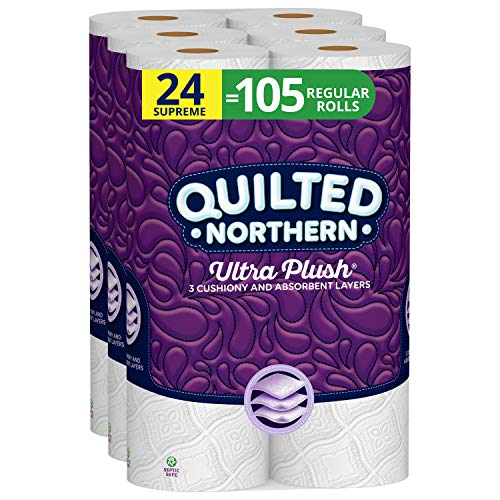 Quilted Northern Ultra Plush Toilet Paper, 24 Supreme Rolls, 24 =...