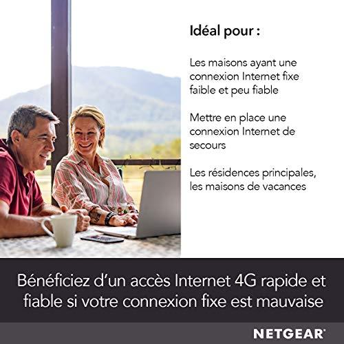 51bMnS7KmKL._SL500_ [Bon plan] !  NETGEAR Modem 4G LTE (LB2120), Compatible avec toutes les Cartes SIM européennes, 2 ports Ethernet Gigabit, Ultra C...