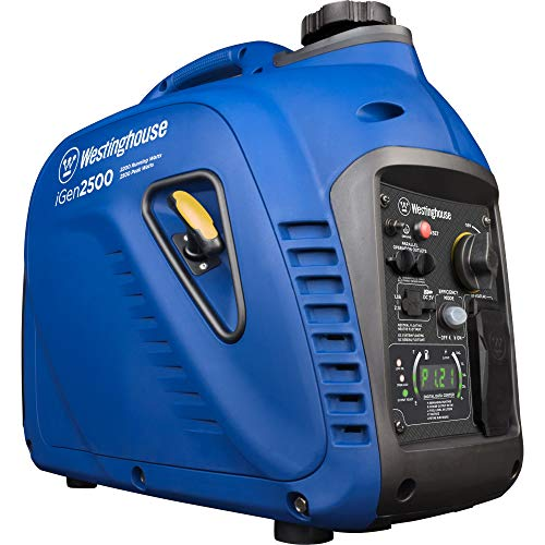 Westinghouse iGen2500 Super Quiet Portable Inverter Generator 2200 Rated & 2500 Peak Watts, Gas Powered, CARB Compliant