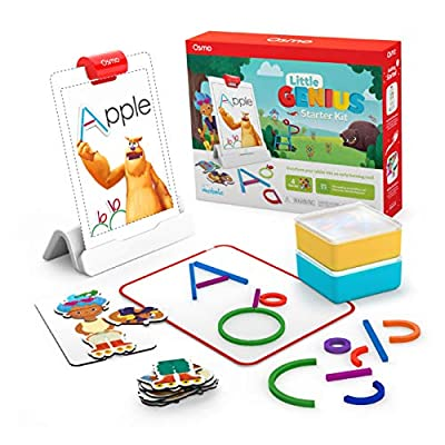 OSMO IS MAGIC: Award-winning learning games let your child interact with tangible educational toys and an iPad, bringing their actions to life. A hands-on learning adventure awaits your little genius (No WiFi necessary for game play). An Osmo Base is...