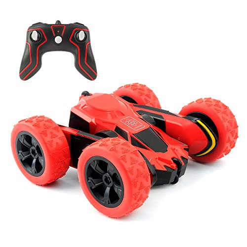 Rimila Auto telecomandata ,4WD Macchina Telecomandata Stunt Car,2.4GHZ Telecomando Macchina Acrzaic Rotazione di 360 Gradi(Non comprese Le batterie) (Red)