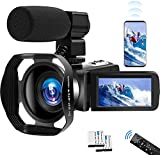 Video Camera 4K Camcorder UHD Vlogging Camera for YouTube WiFi 48M Digital Zoom Camcorder IR Night...