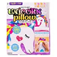 Made By Me Make Your Own Unicorn Pillow by Horizon Group USA, Unicorn Shaped DIY Decorative Pillow. Fiberfill, Glitter Stickers & Rainbow Fleece Strips Included. No Sewing Needed