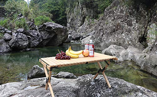 Benewin Folding Wood 1Table and 2Chair- Portable Outdoor Indoor All-Purpose Foldable Picnic Table&Chair for Picnic, Camping, Travel, Tailgating, Patio, Garden BBQ