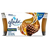 Glade Jar Candle Air Freshener, Cashmere Woods, 2 candles, 6.8 oz (Packaging May Vary)
