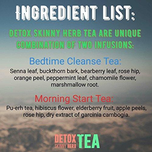 28 Days Teatox: Detox Skinny Herb Tea - Effective Detox Tea, Only Natural and Organic Ingredients, Full Body Cleanse, Teatox 6