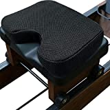 GEERTOP Rowing Machine Seat Rower Boating Cushion Pad fits for Concept 2 with Thicker Memory Foam, Washable Cover and Adjust Straps - Great for Exercise Recumbent Stationary Bike - Black