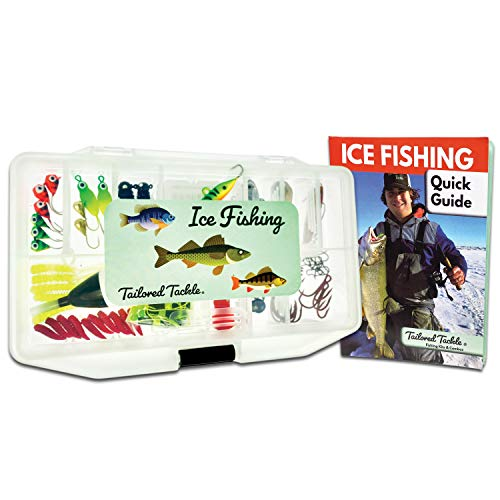 Tailored Tackle Ice Fishing Jigs Lures Kit Walleye Perch Panfish Crappie Bluegill Ice Fishing Gear...