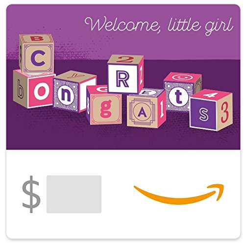 Amazon eGift Card - Baby Girl Blocks