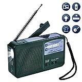 Olycism Radio AM FM NOAA Manivelle Dynamo Radio Solaire Radio Multifonction d'urgence Radio avec...