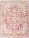 Momeni Rugs Isabella Traditional Medallion Flat Weave Area Rug, 5'3' X 7'3', Pink