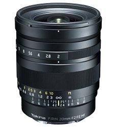 Tokina Fírin - Objetivo con montura para cámaras Sony, 20 mm, color negro