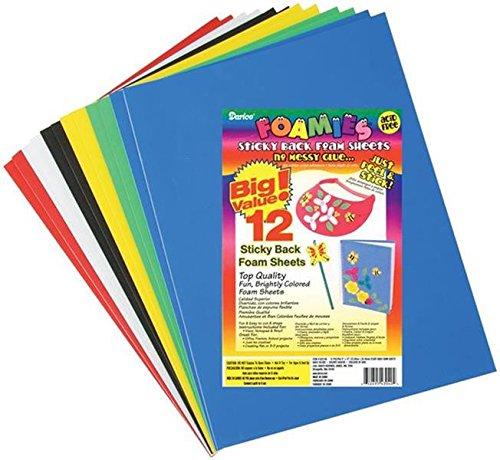 Sticky Back Foam Sheets, 9 by 12-Inch, 12/Pack