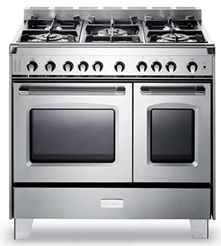Verona VCLFSGG365DSS 36' Classic All Gas Range Double Oven...