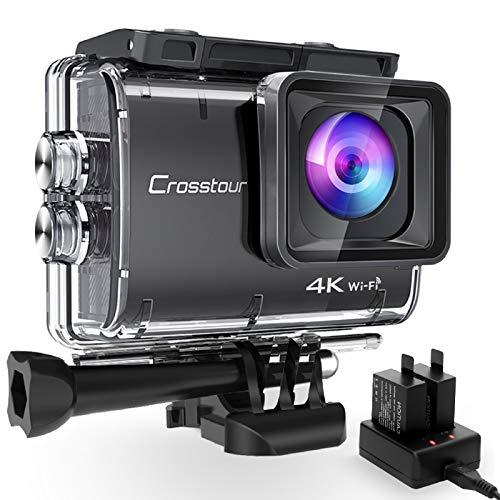 Crosstour CT9500 Nativo 4K50FPS EIS Action Cam 20MP WiFi 40M Impermeabile Fotocamera Subacquea...