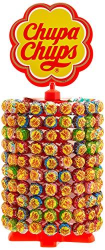 Chupa Chups Lutscher-Rad | 200 Lollies je 12g | Lollipop-Ständer in 6 leckeren Geschmacksrichtungen
