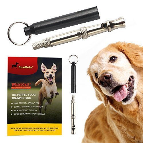 forepets Dog Training Whistle with Black Lanyard...
