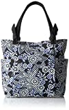 Vera Bradley Women's Signature Cotton Hadley Tote Bag, Snow Lotus