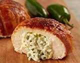 Burgers' Smokehouse Gourmet Stuffed and Bacon Wrapped Chicken Breast Filets (Jalepeno & Cream Cheese)