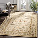 Safavieh Antiquities Collection AT14A Handmade Traditional Oriental Ivory Wool Area Rug (5' x 8')