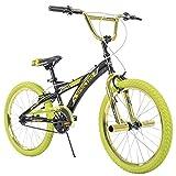 20' Huffy Spectre Boys' BMX Bike, Ages 5-9, Rider Height 44-56', Acid Green (23089)