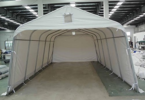 12-Foot by 28-Foot White PVC Protective Carport Party Tent...