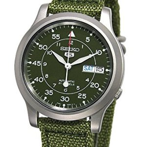 SEIKO Men's SNK805 SEIKO 5 Automatic Stainless Steel Watch with Green Canvas 36
