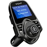 Bluetooth FM Transmitter for Car, Bluetooth Car Adapter Kit, 1.44 inch Display, Supports SD TF Cards, Bluetooth Aux Adapter, Compatible with All Smartphones/iPods, FM Transmitter Bluetooth