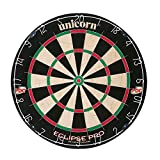 Unicorn Eclipse Pro Dart Board with Ultra Slim Segmentation – 30% Thinner Than Conventional Boards – For Increased Scoring and Reduced Bounce-Outs