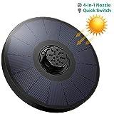OMORC Pompe Solaire 2.2W, fontaine solaire extérieure, Buse 4-en-1...