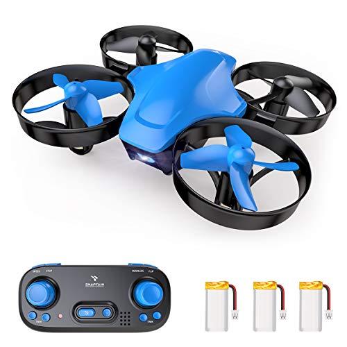 SNAPTAIN SP350 Mini Drohne, Quadrocopter mit 3 Akkus für 21 Minuten Flugzeit, RC Drone, Mini Helikopter mit Kopflos Modus, 360° Flip, 3 Geschwindigkeitsmodi, Spielzeug Drohne für Kinder und Anfänger