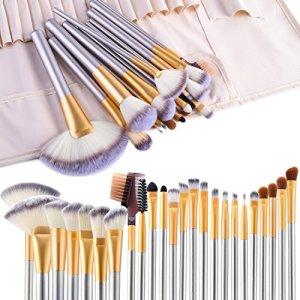 Make up Brushes, VANDER LIFE 24pcs Premium Cosmetic Makeup Brush Set for Foundation Blending Blush Concealer Eye Shadow… 37
