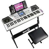 Rockjam 61 Kit Piano Clavier 61 Clés Casque Stand Clavier Banc de Clavier...