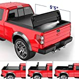 MOSTPLUS Quad Fold Soft Truck Bed Tonneau Cover On Top Compatible for 2015-2021 FORD F150 F-150 Bed Fourth Fold Styleside (5.5 FT Feet Bed)
