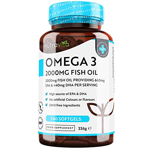 Omega 3 (2000 mg) - 660 mg de EPA y 440 mg de DHA - 240 Caps