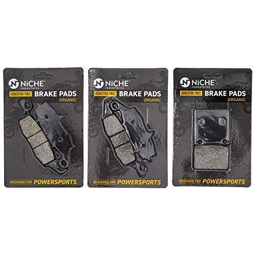 NICHE Brake Pad Set For Suzuki SV650S Katana 750 Bandit 600 69101-05820 59102-33810 Complete Organic