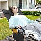 SONGMICS Gartenstuhl Sonnenliege Schaukelstuhl mit Kopfstütze - 4