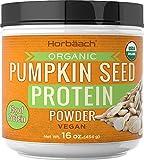 Pumpkin Seed Protein Powder Organic   16 oz   Vegan, Vegetarian, Gluten Free, Non-GMO   by Horbaach