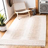 Safavieh Montauk Collection MTK752A Handmade Flatweave Beige Cotton Area Rug (6' x 9')