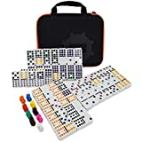 Kalolary Mexican Train Dominoes Game Accessories 91 Piece Double 12 Color Dominoes Set for Kids Mexican Trains Original Pieces Toy