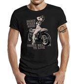 GASOLINE BANDIT Original Biker Racer Camiseta: Babes Bikes Beer I-L
