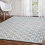Pauwer Morrocan Cotton Area Rug 4' x 6' Machine Washable Printed Cotton Rugs Hand Woven Cotton Rug for Living Room, Bedroom, Laundry Room, Entryway (4' x 6', TypeA)