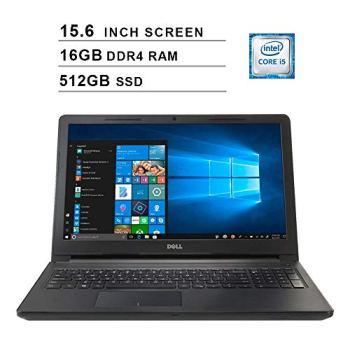 2020 Premium Flagship Dell Inspiron 15 3000 15.6 Inch HD Laptop (Intel Core i5-7200U up to 3.1GHz, 8GB DDR4 RAM, 512GB SSD, WiFi, Bluetooth, Windows 10)